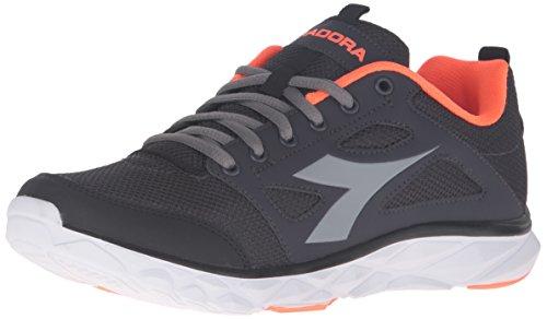 Diadora Men's Hawk 6 Running Shoe, Black/Steel Grey, 11 M US