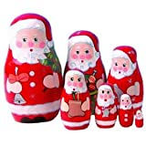Wooden Santa Russian Dolls [Toy]
