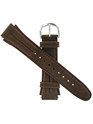 Watch Band 18mm Genuine Leather/Nylon Brown Sport Replacement Fits Timex Expedition and All Other Brands, By United Watchbands (Color: Brown)