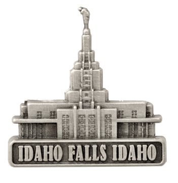 LDS Mens Idaho Falls Idaho Temple Silver Steel Tie Tac / Tie Pin for Boys