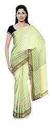 Priyam Sarees Women's Georgette Saree (Light Green)