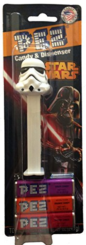 Pez Candy Dispenser: Star Wars Stormtrooper Blister Card - 1