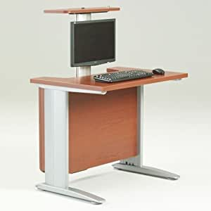 Angle Desk with Monitor Lift 30x36 : Computer Desks : Office Products