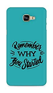 AMEZ remember why you started Back Cover For Samsung Galaxy A9