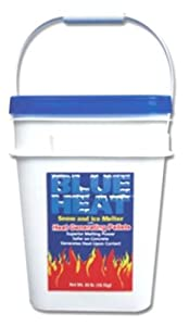 Blue Heat BHP40 Snow & Ice Melter with Heat Generating Pellets - 40 Pound Bucket