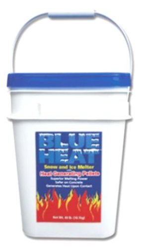 sale Blue Heat BHP40 Snow & Ice Melter with Heat Generating Pellets - 40 Pound Bucket
