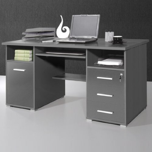 Ergonomic Anthracite Computer Workstation, 484-58