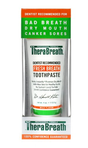 Dr Katz - TheraBreath Oxygenating Toothpaste, with Aloe Vera, 4oz (Pack of 2)
