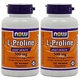 【2個セット】 [海外直送品] L-プロリン 500mg 120粒  L-Proline 500mg 120vcaps