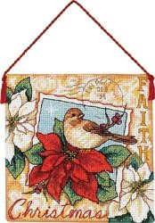 """Bulk Buy: Dimensions Gold Collection Faith Ornament Counted Cross Stitch Kit-4-1/2""""X4-1/2"""" 70-08841 (3-Pack)"""