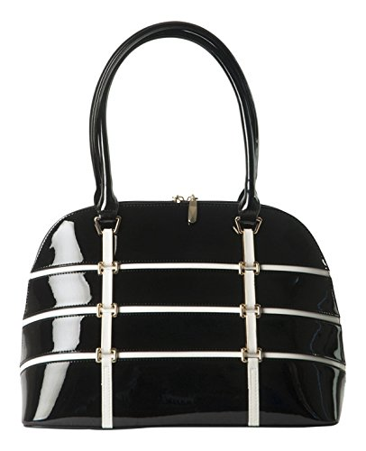 BRAVO-Handbags-Anuta-CreamBlack-with-Gold-Accents-Leather-Large