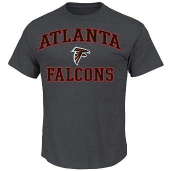 NFL Heart & Soul Atlanta Falcons Basic Tee, Charcoal Hearther, Small