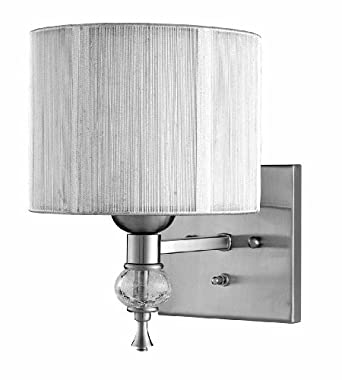 World Imports 8261-37 Bayonne Collection Single Light Wall Sconce, Brushed Nickel