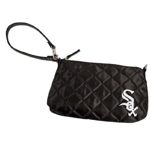 mlb-chicago-white-sox-quilted-wristlet-black