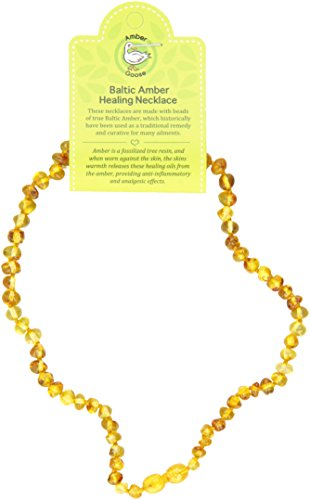 "Momma Goose Teething Necklace, Honey, 15"" - 1"