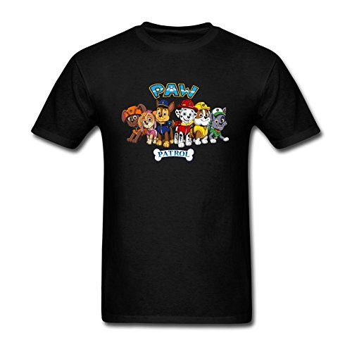 VEBLEN Men's Paw Patrol Design Cotton T Shirt (Paw Patrol Emblem compare prices)