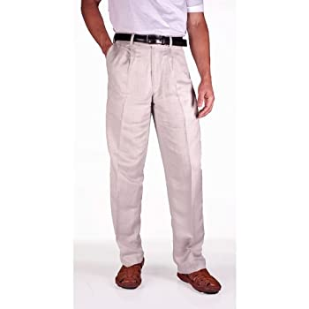 Cubavera men's linen blend herringbone pants