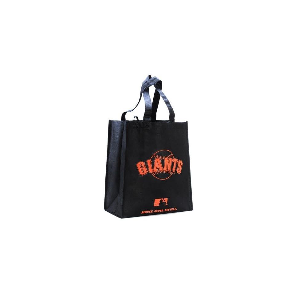 San Francisco Giants Black Reusable Tote Bag