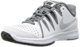 Nike Women\'s Vapor Court White/Metallic Silver/Cl Grey Tennis Shoe 7.5 Women US