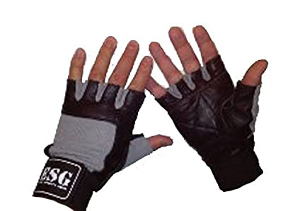 ESG MAX Leather Gym Weight Lifting Gloves with Wrist Wraps from Eagle Sports Gear