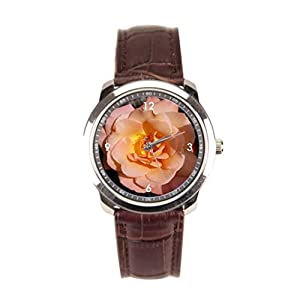 sanYout Watch Leather Band Rose Best Leather Watch Straps Light Wristwatches Close Shot