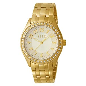 ELLETIME Women's EL20016B02C Ion-Plating Women's Gold Dial Watch