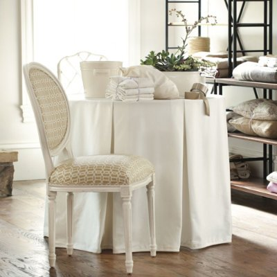 Imelu: Buy Today 108 inch Pleated Party Tablecloth Burlap- Ballard ...