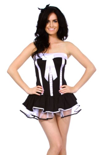 Simplicity Women's Adult Sexy French Maid Costume Lingerie Outfits, Black/White