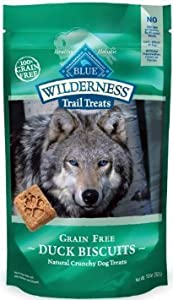 6 Pk Blue Buffalo Wilderness Trail Treats Grain Free Duck Dog Biscuits, 10-ounce Bags ( 3.75 Lbs )