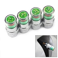 Futaba Car Tyres Pressure Gauge Monitor Indicator Cap Sensor (Pack of 4)