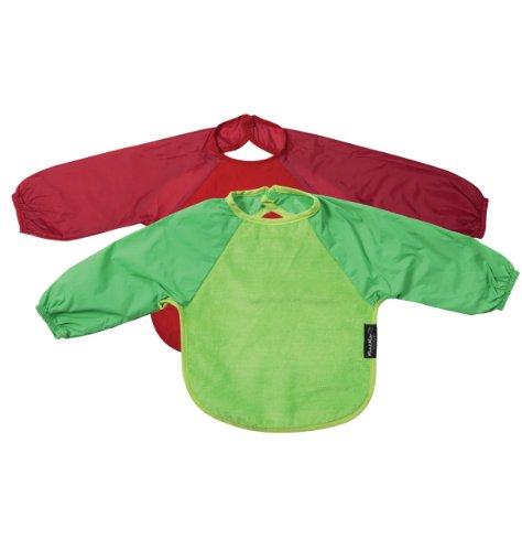 Mum 2 Mum Sleeved Wonder Bib, Large, 2 pack - Red, Lime - 1