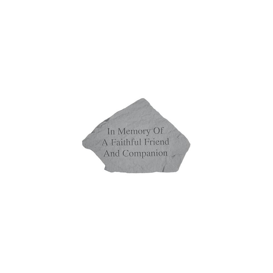 Garden Stone Pet Memorial In Memory of a Faithful Friend