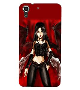 HTC DESIRE 728 DEVIL Back Cover by PRINTSWAG