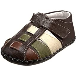 pediped Originals Sydney Sandal (Infant),Chocolate Brown Multi,Extra Small (0-6 Months)