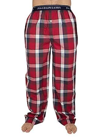Polo Ralph Lauren Homme Point Plaid Pyjama Bottoms, Rouge, X-Large