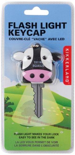 Kikkerland KR84 Cow Flashlight LED Key Cap