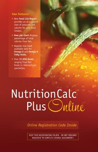 NutritionCalc Plus Online Student Access Card Updated...