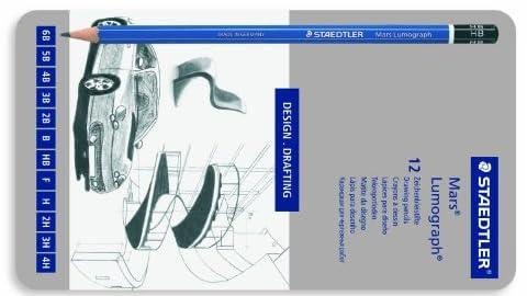 ステッドラー ルモグラフ製図用高級鉛筆 12硬度セット 100 G12
