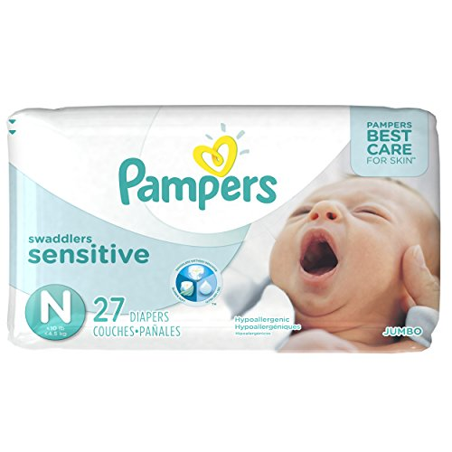 Pampers Swaddlers Newborn Diapers Size 0 27 count - 1