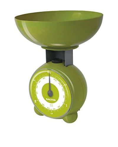 Salter Báscula De Cocina Mecánica Verde Con Recipiente Para Lavavajillas