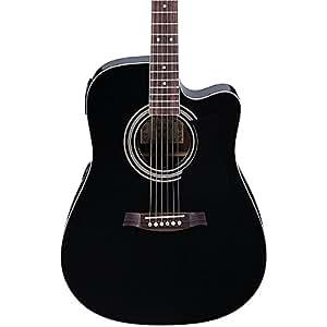 ibanez v70ce acoustic electric guitar black musical instruments. Black Bedroom Furniture Sets. Home Design Ideas
