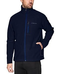 Columbia Men's Fast Trek II Full Zip Fleece Jacket, Collegiate Navy, Medium