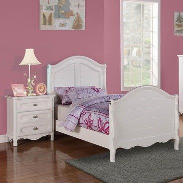 Homelegance Hayley 2 Piece Kids' Panel Bedroom Set In White