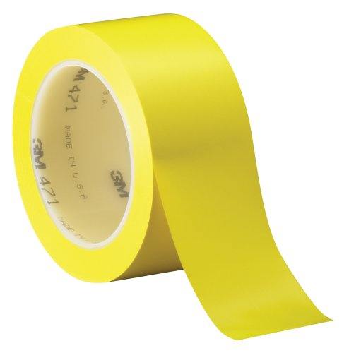 3M Vinyl Tape 471 Yellow, 1 In X 36 Yd, Conveniently Packaged (Pack Of 1)