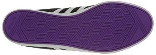 Adidas Performance Women's Courtset W Fashion Sneaker, Black/White/Shock Purple Fabric, 7 M US