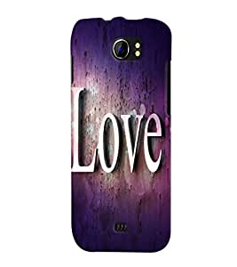 Fuson 3D Printed Love Designer back case cover for Micromax Canvas 2 A110 - D4476