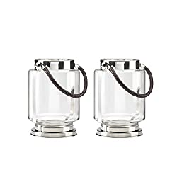 Global Amici Z7CHN105S2R Taj Candle Holder Medium Set of 2