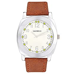 Laurels Gaucho Analog Silver Dial Mens Watch ( LL-Gaucho-Men)