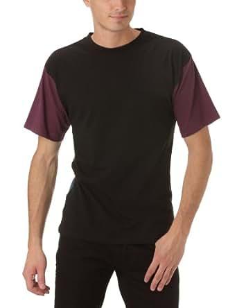 Gaspard Yurkievich - T-Shirt - À Logo - Jersey - Homme - Multicolore (Bordeaux/Noir/Bleu) - S