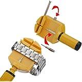 Uhr Stiftausdrücker Armbandkürzer Stiftaustreiber Uhrenwerkzeug gelb + 3 Stifte